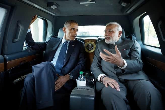 Narendra Modi with Obaman