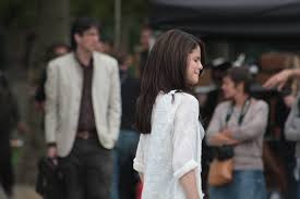Selena Gomez walking out from hospital