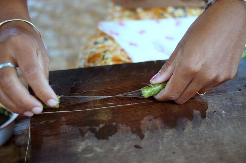 Lotus silk yarn