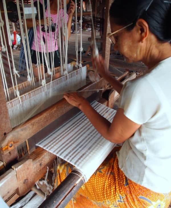 Weaving the Lotus silk